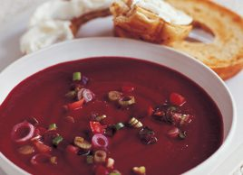 Beet and orange soup