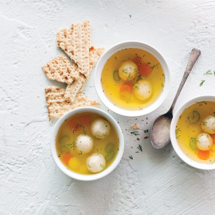 Demi Tasse Chicken Soup with Dill and Parsnips