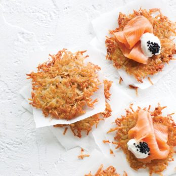Lacy Potato Latkes with Smoked Salmon