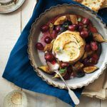 Honey-Roasted-Ricotta-with-Figs-and-Grapes