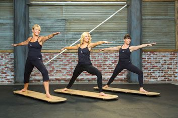 How you can do SUP yoga on land