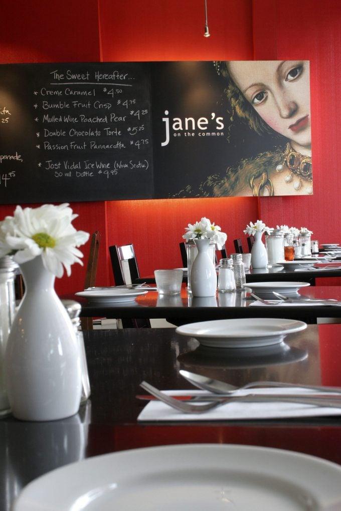 Canada's healthiest restaurants: Jane's on the Common