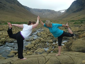 Candian yoga adventures - Wild Women Expeditions