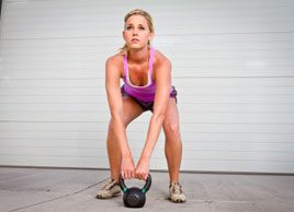 Kettlebell workout fitness weights