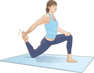 Lunge quad stretch