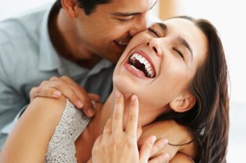 laughing happy couple