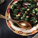 Lemony Rainbow Chard with Dried Cranberries