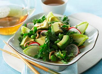 Our best recipes to lower cholesterol best health magazine canada avocado edamame and radish salad forumfinder Images