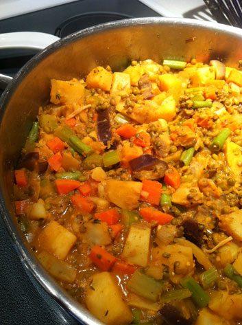 Curried Mung Bean Stew