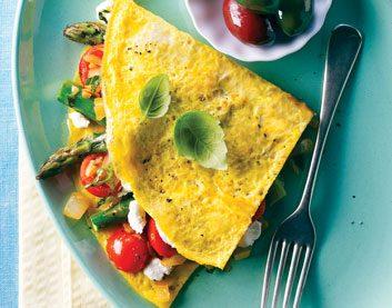 Asparagus & Tomato Omelette