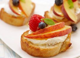 Peach Breakfast Crostini