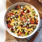 Pasta, Veggie & Blue Cheese Salad