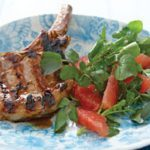 Pork Chops with Ruby Grapefruit & Watercress