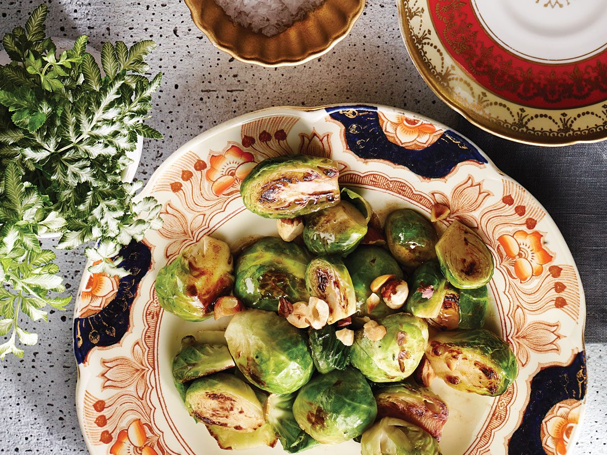 Roasted Hazelnut Brussels Sprouts