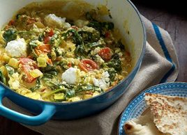 Saag Paneer with Tomatoes