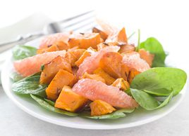 Roasted Sweet Potato and Grapefruit Salad