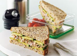 Poached Salmon Salad Sandwiches