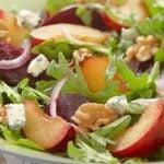 Plum, Beet and Arugula Salad