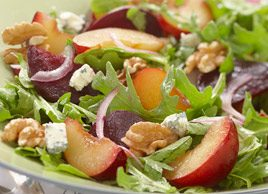 Plum, Beet and Arugula Salad