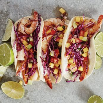 Chili Shrimp Tacos with Mango Avocado Salsa