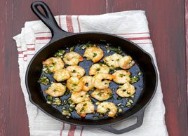 Lemony Shrimp Gambas