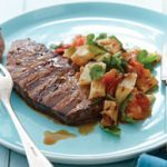 Steak with Grilled Fennel & Tomato Salad