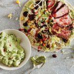 Taco Steak Salad Wraps