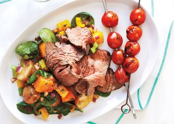 Steak with Warm Sweet-Potato Salad