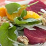Tangy Roasted Beet & Walnut Salad