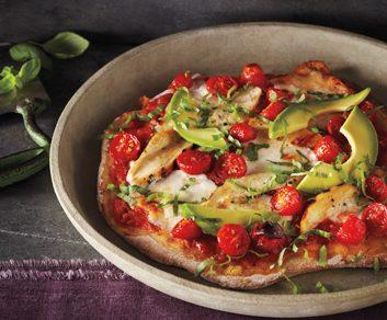 Thin-Crust Tricolore Pizza