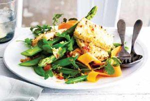 Grilled Sesame-Tofu Salad