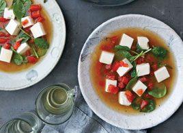 Japanese Tomato & Tofu Soup
