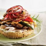Grilled Veggie and Turkey Bagels