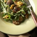 Warm Shiitake Walnut Salad with Quinoa