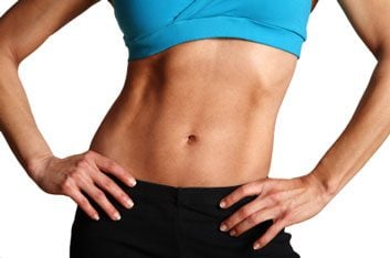 flat abs slim woman
