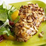 Almond Orange Crusted Chicken With Fennel Arugula Salad