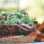 Meatless Monday: Almond Flaxseed Burger with Black Bean Lime Salsa
