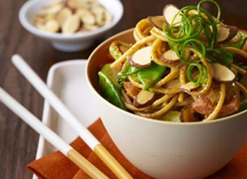 asian noodle bowl almonds