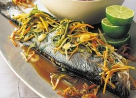 Asian-Style Fish with Noodles