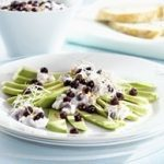 Avocado Carpaccio with Wild Blueberry Cottage Cheese Mix