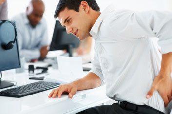 man desk job back pain