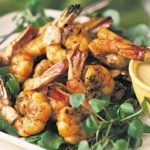 Barbecued Shrimp with Mustard Sauce