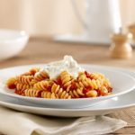 Meatless Monday: Barilla Rotini with Fresh Plum Tomato Sauce and Chevre