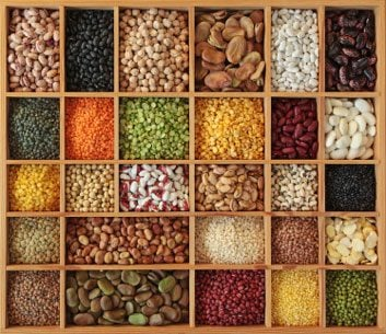 Beans, lentils, peas and other foods high in folate
