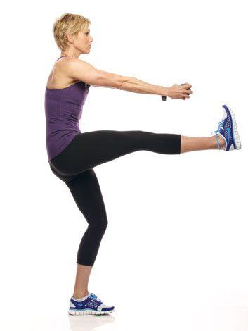 3. Weighted straight-leg kick