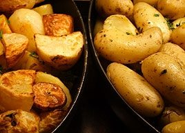 Roasted Baby Potatoes with Shallots and Mustard