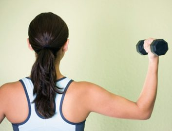 bicep curl muscles weights