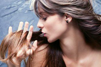volumized hair