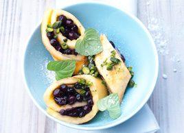 Sweet Blueberry Omelette Rolls