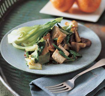 Bok Choy, Tofu & Mushroom Stir-Fry
